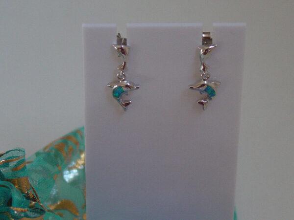 Silver Dolphin Earrings
